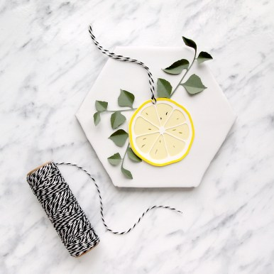 Papercut Lemon Slice Gift Tag
