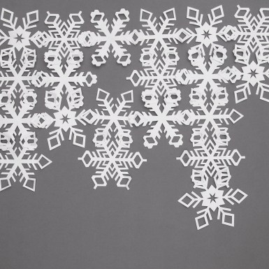 Linking Paper Cut Snowflake Backdrop