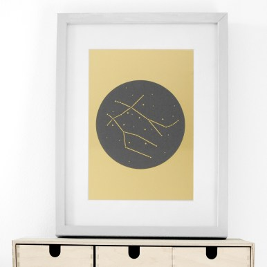 Gemini Constellation Stars Papercut