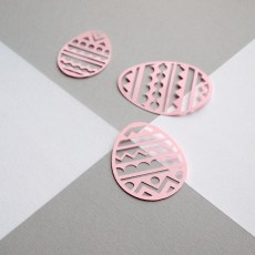 Paper cut Geometric Patterned Easter Eggs