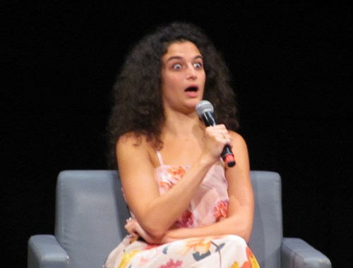 Hot On The Street Jenny Slate Shocked OMG Face