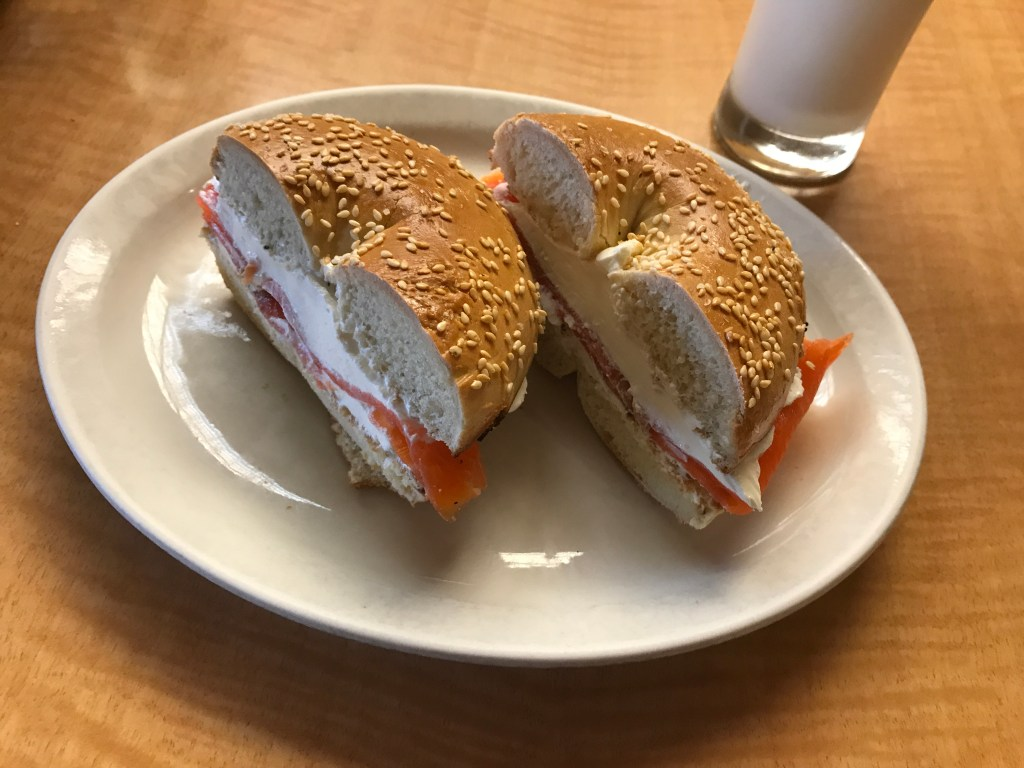 Hot On The Street - Kitchen Renovations - Lox and Cream Cheese Bagel