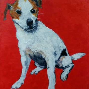 Jack Russell - pet painting by commission artist Sarah Seymour