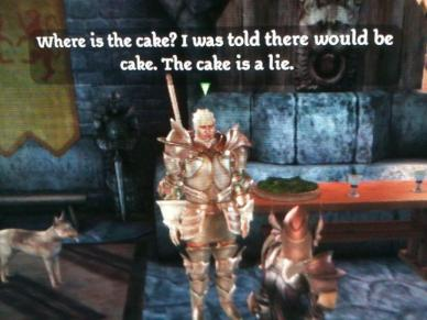 The Cake is a LIE! Dragon Age :)
