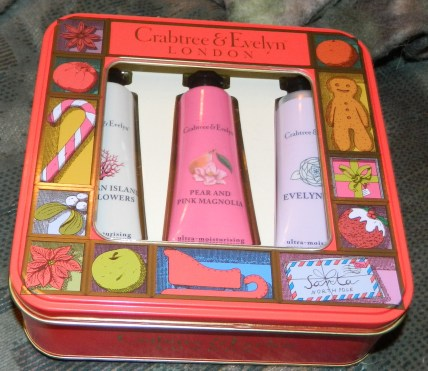 Crabtree & Evelyn Modern Floral Hand Therapy Trio Tin