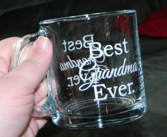 Best Grandma Ever Glass Coffee Mug, 13 Ounces