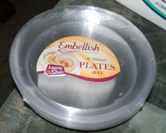 Embellish Hard plastic 9 Inch Clear Plates 20 Count