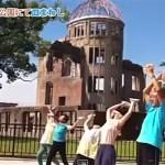 広島 平和記念公園でも皿まわし
