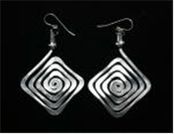 Diamond Spiral Earrings