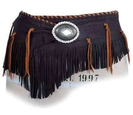 Patricia Wolf Chocolate Deerskin Wrap Belt