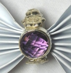 Amethyst and Sterling Silver Cocktail Ring.
