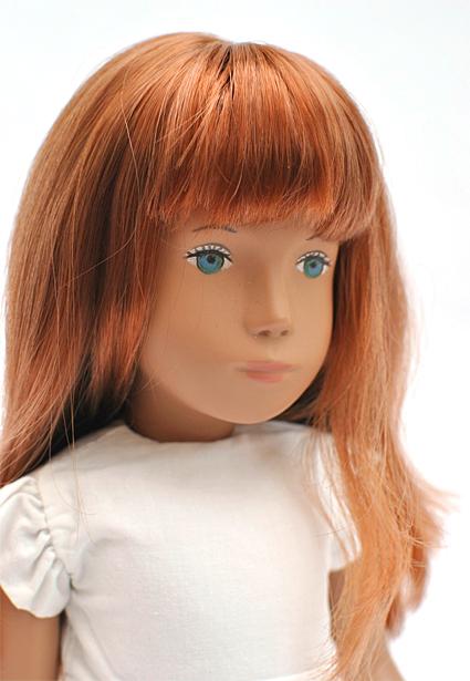 Redhead white dress 1