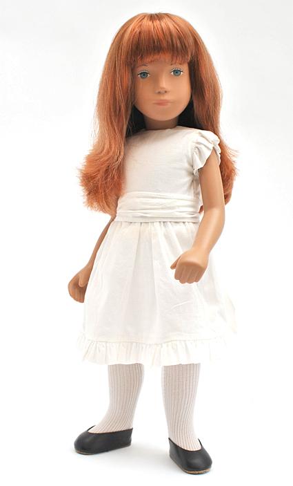 Redhead white dress 2