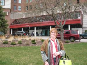 Carol at the Buffalo Hyatt, Society for the Arts in Healthcare Annual Conference