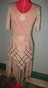 Seamless Dress, woven around a dressform