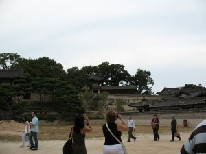 Gyeongbokgung buildings, constructed in harmony with the slope of the land