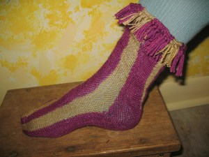 Sprang Sock #3