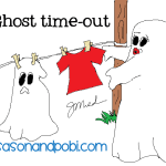Halloween Ghost Time-Out Cartoon Comic