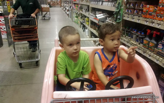 Home Depot with the Boys