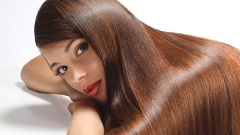 How to Straighten Your Hair Model Brunette
