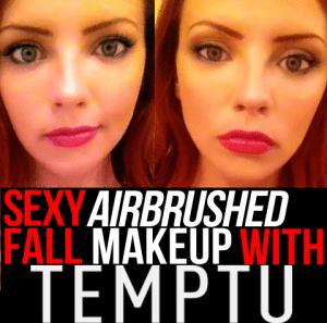 sexy airbrushed fall makeup with temptu
