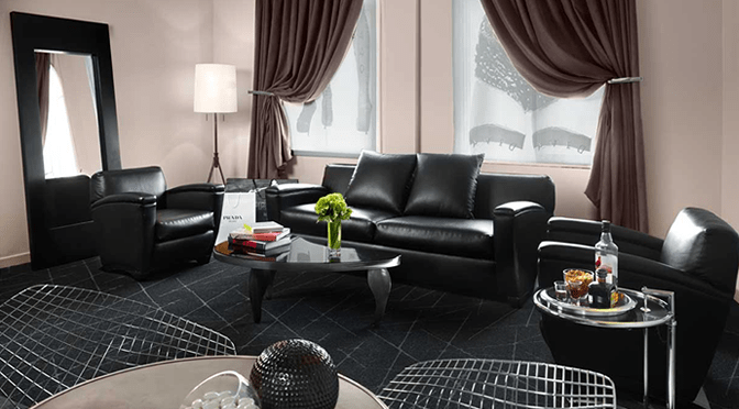 home-decor-inspiration-feature-black-leather-living-room-mesh-ball-mirror-curtains