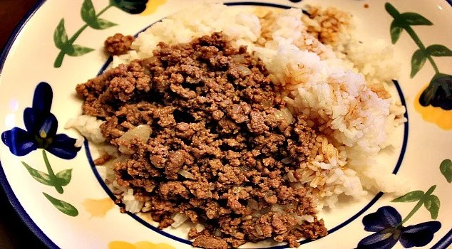 Chopped Beef and Rice Recipe - Sassy Townhouse Living