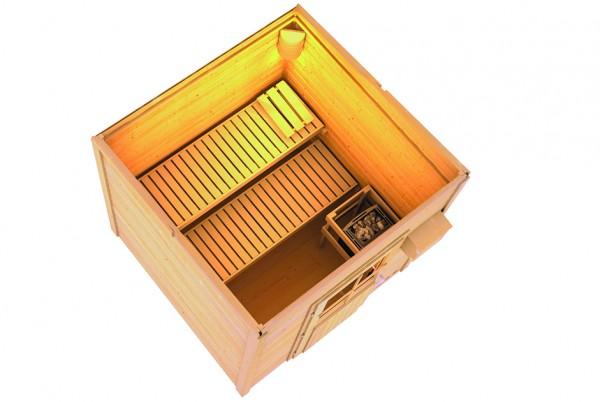torge ein saunahaus mit ofen von karibu sauna haus test. Black Bedroom Furniture Sets. Home Design Ideas