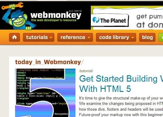 webmonkey 15 Best Websites that can make you a Web Designer