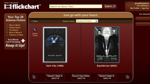 flickchart1 e1275377762149 Top 10 Social Networking Websites For Movie Lovers