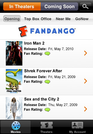 fandango movies 42 Best And Free iOS 4 Apps For Your iPhone