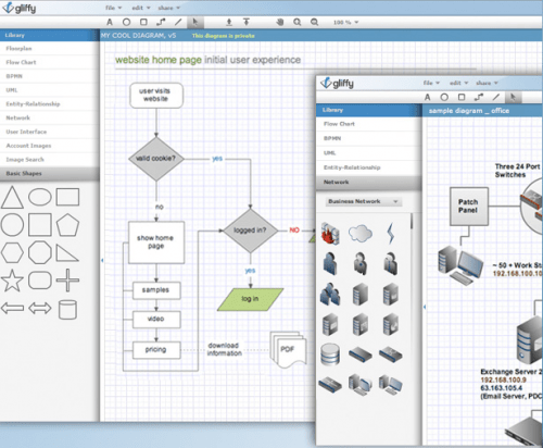 gliffy e1283495006650 7 Collaborative Online Diagramming Tools to Draw any Diagram