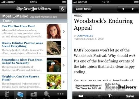 NY Times App Top 100 Best Free iPhone 4 Apps