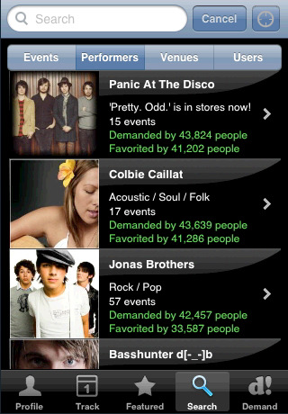 eventful1 Top 100 Best Free iPhone 4 Apps
