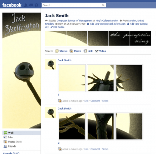 new facebook profile hack24 e1293998553457 35 Most Amazing And Creative Examples Of New Facebook Profile Page Design