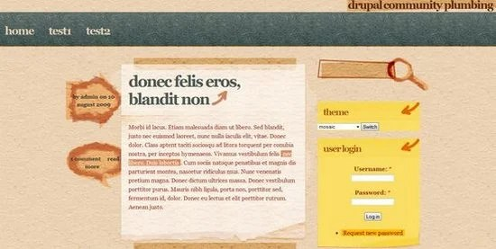 best free drupal theme6 40 High Quality Drupal Themes For Free Download