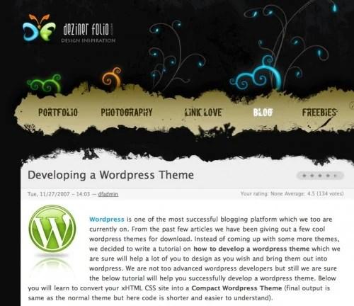 screen capture 16 e1299566554350 8 Fantastic Tutorials On How To Build Your Own Custom WordPress Theme
