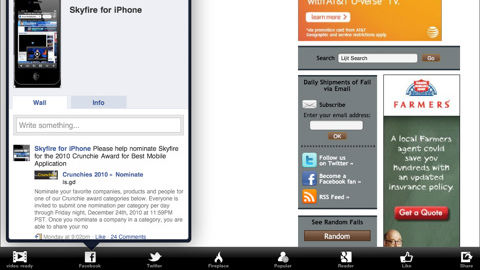 Skyfire Top 10 Best Apple iPad Web Browsers For Improved Browsing