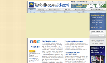 The Math Forum @ Drexel University 450x265 25 Great Websites For Learning Maths