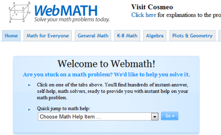 WebMath Solve Your Math Problem 450x275 25 Great Websites For Learning Maths