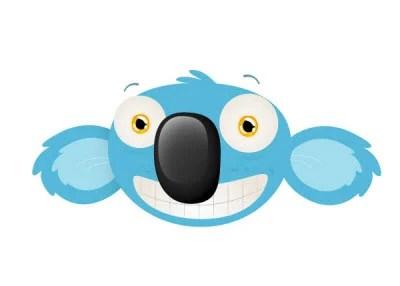 cheeky koala mascot head 80 Excellent Adobe Illustrator Cartoon Tutorials