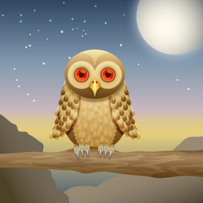 curious owl 80 Excellent Adobe Illustrator Cartoon Tutorials