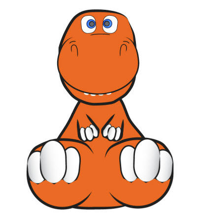 cute and cuddly vector dinosaur 80 Excellent Adobe Illustrator Cartoon Tutorials