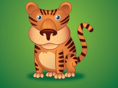 little tiger 80 Excellent Adobe Illustrator Cartoon Tutorials
