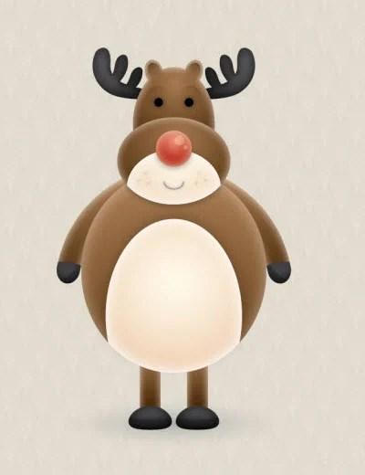 reindeer character 80 Excellent Adobe Illustrator Cartoon Tutorials
