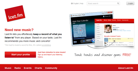 last fm 450x232 Best Entertainment Websites On The Web in 2011