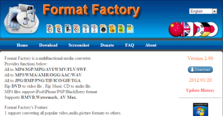 Format Factory Free media file format converter 450x234 5 Best Free Audio   Video Format Conversion Software
