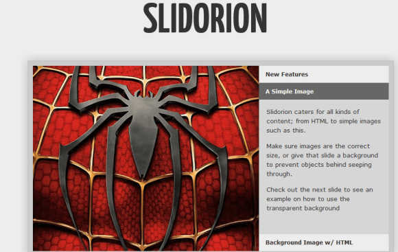 SLIDORION .1 580x367 43 Best jQuery Carousel Sliders, Plugins, Tutorials and Examples