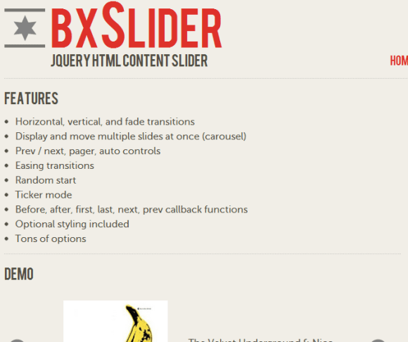 bxSlider 580x486 43 Best jQuery Carousel Sliders, Plugins, Tutorials and Examples