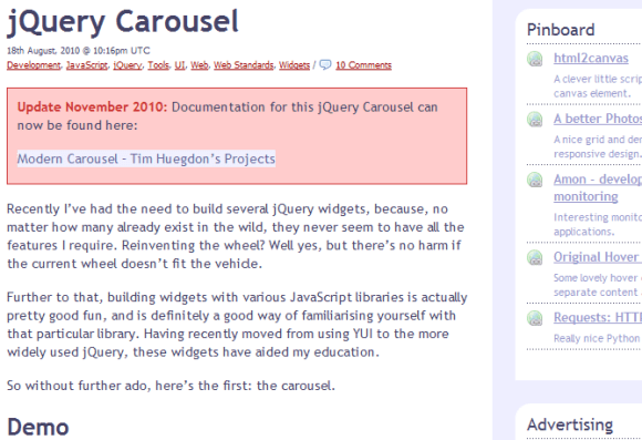 jQuery Carousel 580x397 43 Best jQuery Carousel Sliders, Plugins, Tutorials and Examples